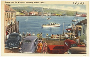 Scene from the Wharf at Boothbay Harbor, Maine