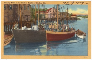 Fishing boats in the harbor, Boothbay Harbor, Maine