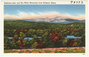 Highland Lake and The White Mountains from Bridgton, Maine