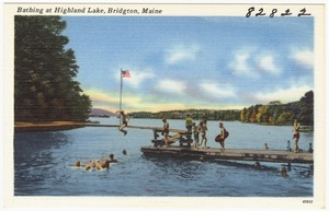 Bathing at Highland Lake, Bridgton, Maine