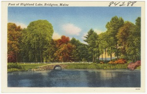 Foot of Highland Lake, Bridgton, Maine