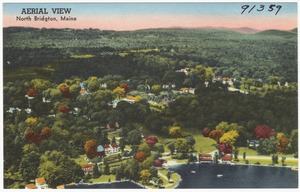 Aerial view, North Bridgton, Maine