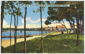 Beautiful scene on the Kennebunk River, Kennebunkport, Maine