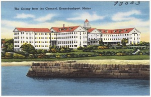 The Colony from the Channel, Kennebunkport, Maine