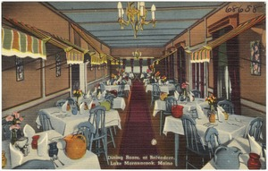 Dining room, at Belvedere, Lake Maranacook, Maine