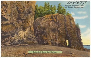 Cathedral Rock, Bar Harbor, Acadia National Park, Mt. Desert Island, Me.