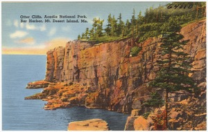 Otter Cliffs, Acadia National Park, Bar Harbor, Mt. Desert Island, Me.