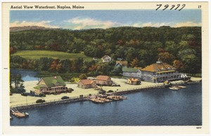 Aerial View Waterfront, Naples, Maine