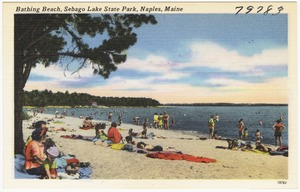 Bathing beach, Sebago Lake State Park, Naples, Maine