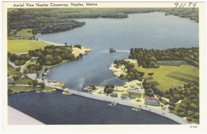 Aerial view Naples Causeway, Naples, Maine
