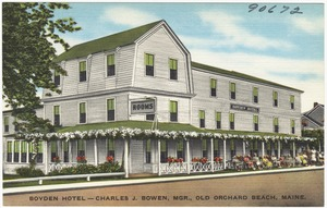 Boyden Hotel -- Charles J. Bowen, Mgr., Old Orchard Beach, Maine