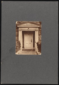 Greek Revival style doorway to home of William Taber