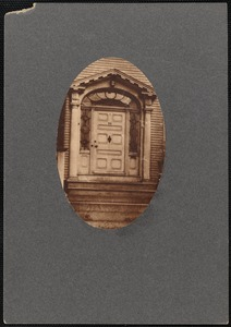 Federal style doorway to Babbit house