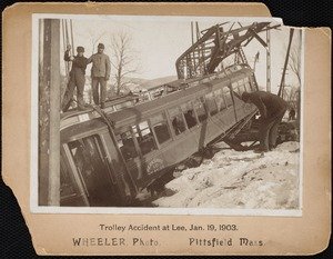 Trolley accident at Lee, Jan. 19, 1903