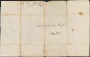 John Read to Leonard Jarvis, 23 February 1789