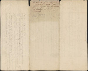 Account of John Peters report on land surveyed for the land lottery, 7 November 1791