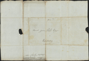 Isaac Thompson to John Read, 19 August 1805