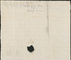 Abel Wood to Lothrop Lewis, 29 October 1817