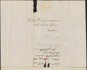 Charles Turner to the Commissioners of the Land Office, 15 January 1818