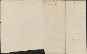 Alden Bradford to Edward Robbins, 8 October 1818