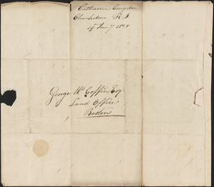 Cathanne Congdon to George Coffin, 19 January 1825