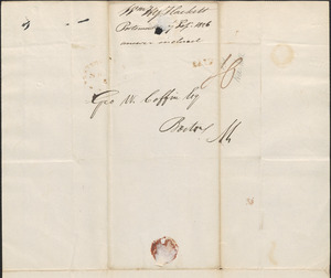 William Hackett to George Coffin, 7 September 1826