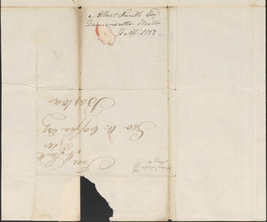 Albert Smith to George Coffin, 31 April 1828