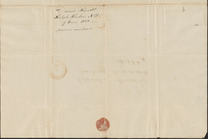 David Smith to Edward Bangs, 9 June 1828