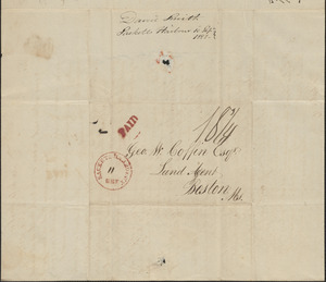 David Smith to George Coffin, 10 September 1828