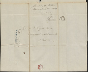 Joseph Miller to George Coffin, 19 March 1829