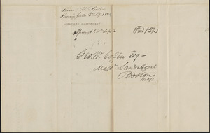 Samuel Porter to George Coffin, 1 September 1829