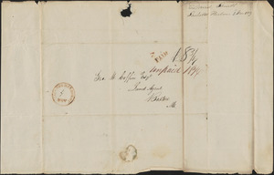 David Smith to George Coffin, 1 November 1829