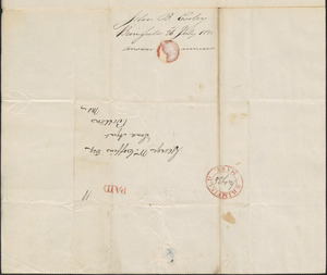 John Cooley to George Coffin, 26 July 1830