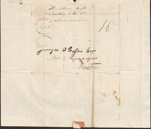 Aaron Tufts to George Coffin, 4 September 1830
