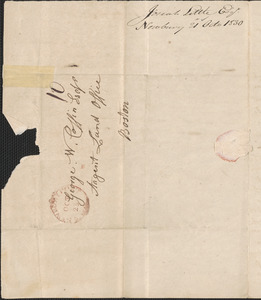 Josiah Little to George Coffin, 21 October 1830