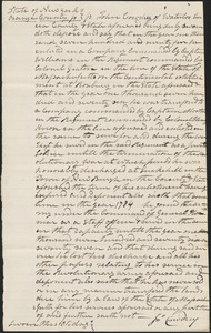 Affidavits of Jon Cowdrey, 10 February 1831