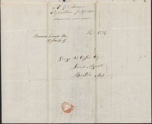 A.G. Brown to George Coffin, 7 April 1831