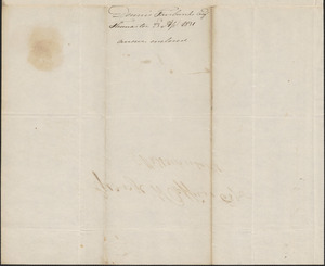 Dennis Fairbanks to George Coffin, 23 April 1831