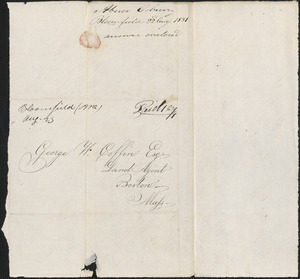 Abner Coburn to George Coffin, 22 August 1831
