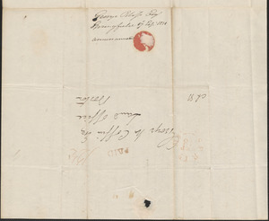George Bliss to George Coffin, 17 September 1831