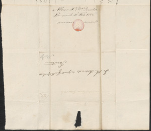 Abner McDonald to the Land Agent, 10 February 1832