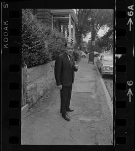 Attorney F. Lee Bailey seen outside the New Bedford Court house during Barboza case
