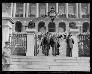 Al Smith leaving the State House, Boston