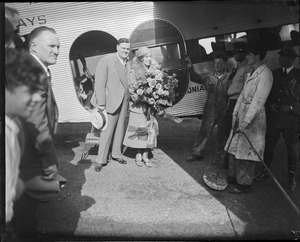 Aimee Semple McPherson arrived at East Boston airport