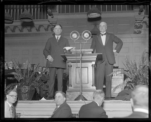 Sen. Borah, left, greatest orator of all time, and Murray Butler of Columbia University