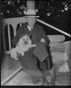 Col. House with his dog