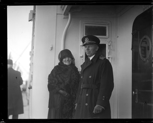 Capt. Fried of the SS America with Mrs. Theodore Roosevelt