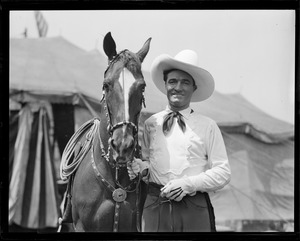 Tom Mix and his horse Tony in Boston