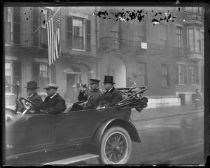 Mayor Peters and the King of Belgium ride through Boston in open car