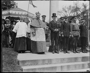 Cardinal O'Connell and Gov. Cox at Charlestown Navy Yard